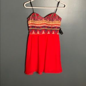 NWT City Triangles strapless dress